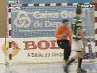 Andebol :: Sporting - 30 x Stiinta Bacau - 24 de 2009/2010 Taça Challange - 1/4 Final 1Mao