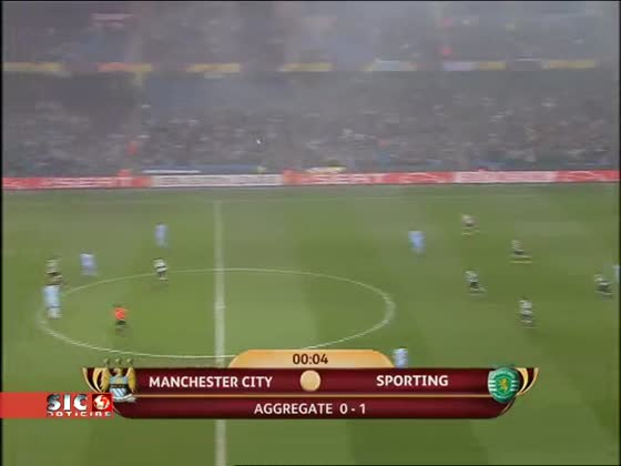 Manchester City - 3 x Sporting - 2 de 2011/2012 1/8 Final Liga Europa