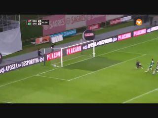Sporting Braga 3-3 Sporting CP (4-3 a.p.) - Golo de Wilson Eduardo (42min)