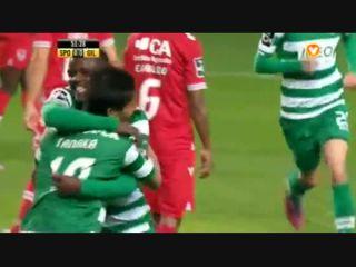 Sporting CP 2-0 Gil Vicente - Golo de J. Tanaka (52min)