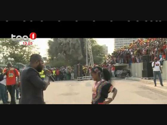 Celebrações do dia da Mulher Africana na Praça da Independência