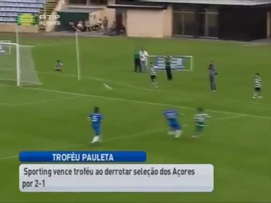 Selecção Açores - 1 X Sporting - 2, 2014/2015 Trofeu Pedro Pauleta