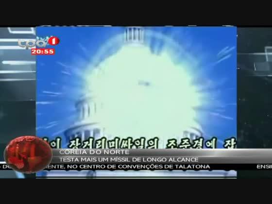 Coreia do Norte testa mais um míssil de longo alcance