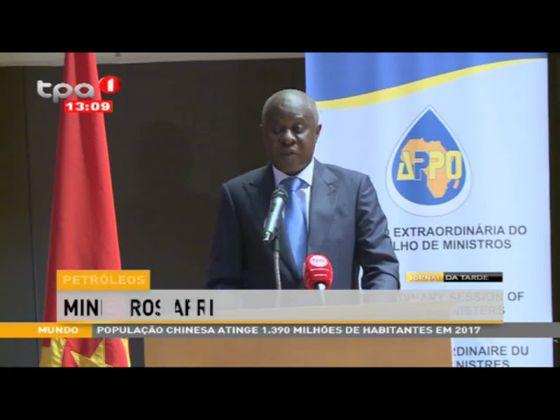 """Petróleos """"Ministros africanos reunidos em Luanda"""""""