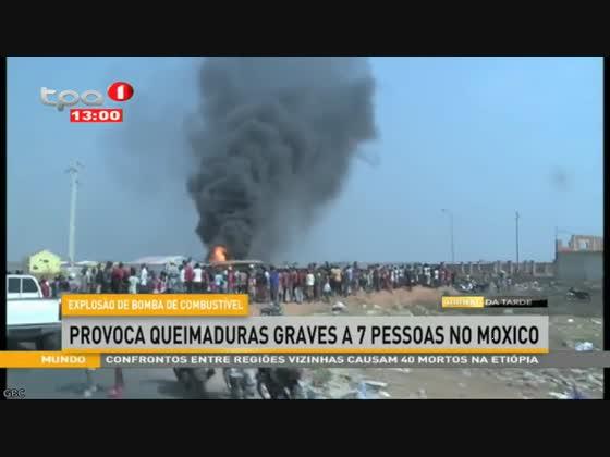Explosão de bomba de combustível com 7 pessoas feridas