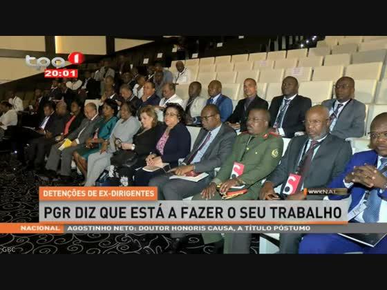 """Detenções de Ex-dirigentes """"PGR está a fazer o seu trabalho"""""""