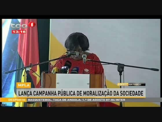 MPLA lança campanha pública de moralização da sociedade