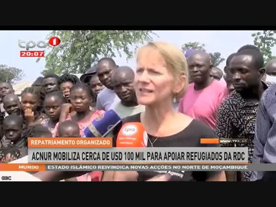ACNUR mobiliza cerca de Usd 100 mil para apoiar refugiados da RDC